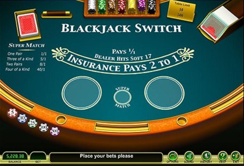 cách chơi Blackjack Switch